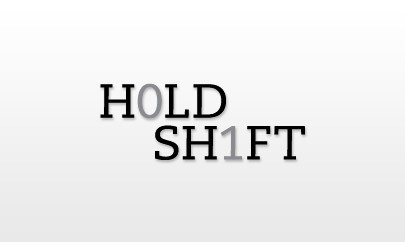 Hold Shift