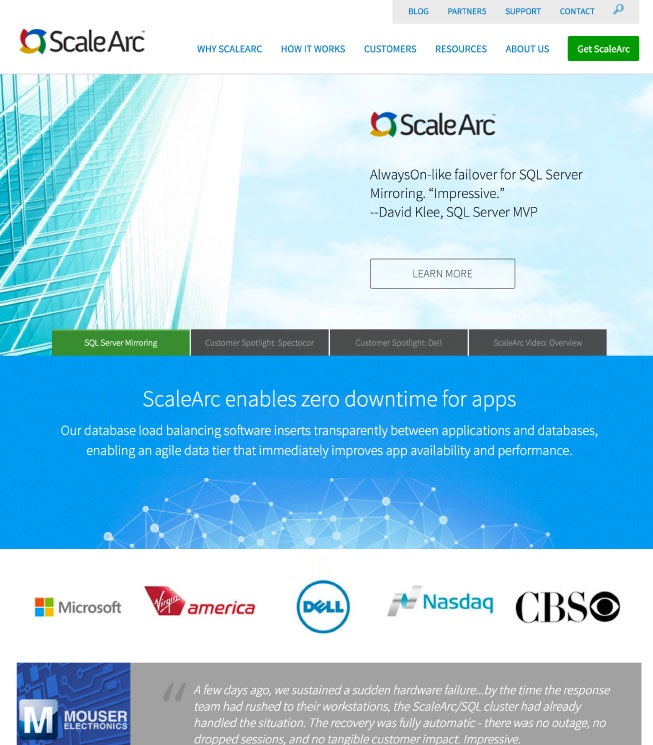 ScaleArc Homepage 2